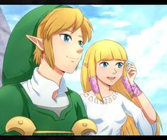 The Legend of Zelda - Anime, Link, Princess Zelda