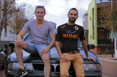 PASCAL & EMMANUEL - 26/25 YEARS OLD - FRENCH - 37/160 DAYS IN AUSTRALIA  Pascal bought this car 600$AU few days ago in Perth from a french guy met in the hostel. As it is hard to find a job in Perth at this moment, they are now going together to Margaret River to find a job.   #iamabackpacker #Perth #Australia #seeAustralia