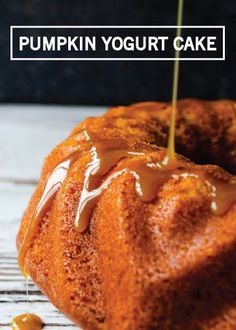 With a wonderfully moist and tender inside, Pumpkin Yogurt Cake is just as decadent and delicious as it sounds. The simple caramel drizzle on top really takes it to the next level and makes this the perfect fall dessert to impress your holiday visitors with.