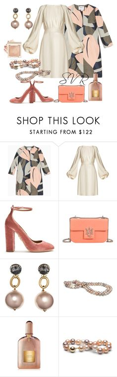 """""""SVR Softly time!"""" by svrrvs ❤ liked on Polyvore featuring Max&Co., Chloé, Aquazzura, Alexander McQueen, Marni and Tom Ford"""