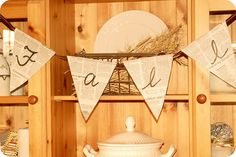 book page 'fall' bunting