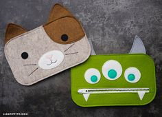 Kid's Felt Pencil Pouches