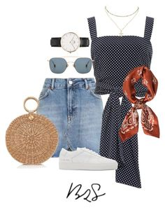 """#854"" by blendingtwostyles ❤ liked on Polyvore featuring Topshop, Alexis, Aranáz, Common Projects, Ahlem, Daniel Wellington and Charlotte Russe"