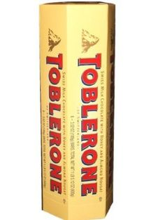 Toblerone Swiss Milk Chocolate with Honey and Almond Nougat, 3.52-Ounce Bars (Pack of 12)  Order at http://www.amazon.com/Toblerone-Chocolate-Almond-Nougat-3-52-Ounce/dp/B000H1327A/ref=zg_bs_16322461_86?tag=bestmacros-20