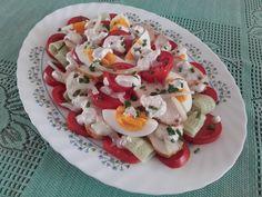 Szybka w wykonaniu, smaczna sałatka. Zastąpi cały posiłek. Caprese Salad, Food And Drink, Dishes, Polish, Salads, Cooking, Insalata Caprese, Plate, Vitreous Enamel