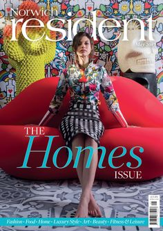 Jane Richards Interiors graces for the cover of The Norwich Resident for the second time. The editorial features an eclectic mix of pop and mid-century design.