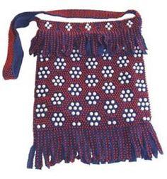 60s Hippie Vintage Beaded Fringe Handbag