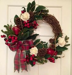 Christmas Wreaths To Make, Etsy Christmas, Holiday Wreaths, Rustic Christmas, Christmas Projects, Winter Christmas, Winter Wreaths, Spring Wreaths, Summer Wreath