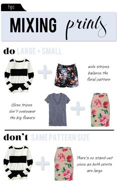 mixing prints like a pro. Tips for mix and match prints and patterns on clohtes.