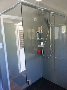 2 Shower roses, these do come with a diverter which allow you to choose if you wish for the overhead rose or the hand held. These are also great for cleaning the showers. Beautiful Bathrooms, Bathroom Renovations, Landline Phone, Brisbane, Bathtub, Cleaning, Showers, Roses, Standing Bath