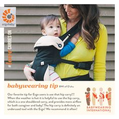 [on the blog] Babywearing Tip Hip Carry #hipcarry #ergobaby #babywearing #lovecarrieson