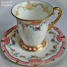 ~美しいアンティークカップ&ソーサーを愛でる時は、言葉は要りません~            ~ため息と沈黙で味わいお楽しみ下さい~    【 アンティークとの出逢いは一期一会です。。。リクエストはworldofwondersusa@gmail...