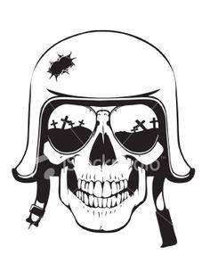 WW2 Skull Ilustraciones vectoriales