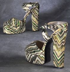 Biba platform shoes circa 1972.  From Sachaverelle's Flickr Album:  https://www.flickr.com/photos/sacheverelle/sets/72157606152230750/  This is an exemplary collection of fashion from the Victorian era to the Mid-Seventies.