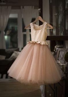 Silk & Tulle Flower Girl Dress