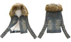 e21d93fd9559 Groupon Goods Global GmbH  Veste en jean fourrée Blu Apparel pour femme