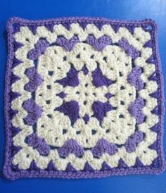 Easy Afghan Crochet Block. This is a beautiful crocheted afghan block which is made up of Individual Granny Squares. I love the subtle impress of hearts around the inside edge of each square. She includes photo steps demonstrating each of the techniques. Dificulty: Easy Hooks: 5.0 mm, Size H Yarn: Worsted Weight Measures: 10″ She …
