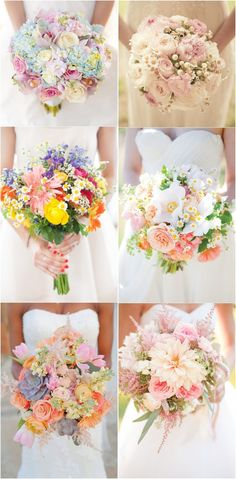 2017 spring wedding bouquet flower ideas