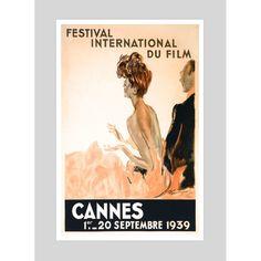 Cannes Film Festival 1939 Vintage Poster | hardtofind.