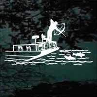 Customize this Bowfishing decal design with your own text at www.DecalJunky.com