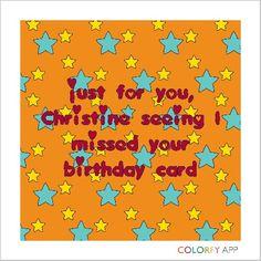 Christine's birthday