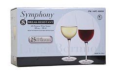 Luigi Bormioli BreakResistant 8All Purpose Wine Stems  Wine Glasses 20 oz size each ** More info could be found at the image url.