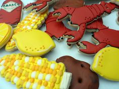 Crawfish Boil Cookies by Vicki's Sweets, via Flickr
