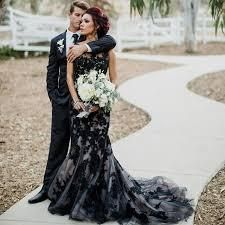 Elegant Black Lace Wedding Dress – Matrimony Prep