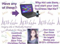 Do you want to get paid for being on Facebook?   It's easy and enjoyable.....  Acti-Labs has launched in the USA.... And is coming to Canada! Ever wanted to be with a company right from the start?.... This is your chance!!  Paraben /cruelty free products...  Weekly pay  Free products and incentives...... 😍  Message or comment for more information on this ground floor opportunity!!
