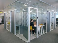 Private offices let you slip away for a little focus work in this office space.