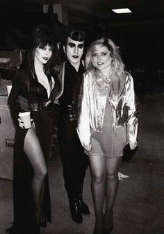 Debbie Harry, Elvira, and Joey Arias.