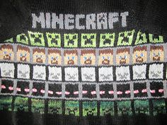 Minecraft, Steve, Creeper Charts by Jenna La Due. Free pattern!