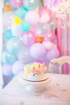 Are you planning a unicorn birthday party for your little one? Here are 14 simply stunning ways to make your unicorn party extra special. Niece Birthday, Unicorn Birthday Parties, 10th Birthday, Unicorn Party, Birthday Cakes, Unicorn Cakes, Rainbow Unicorn, Birthday Ideas, Unicorn Balloon