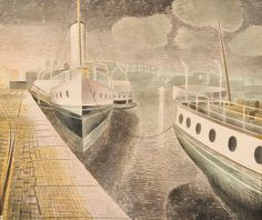 Paddle Steamers at Night by Eric Ravilious  Chosen by Artist Simon Palmer