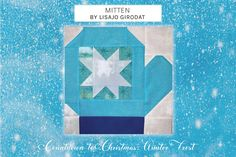 Quilt Block Patterns, Pattern Blocks, Fabric Patterns, Quilt Blocks, Christmas Sewing Projects, Blue Block, Winter Quilts, Half Square Triangles, Quilting Tutorials