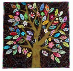 applique tree quilt
