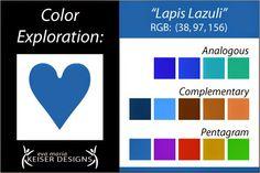 Eva Maria Keiser Designs: Explore Color:  Lapis Lazuli