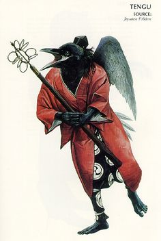 Japanese Tengu | after which he climbed a tree. Thinking he was a real tengu, the ...