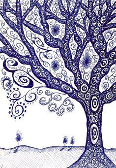 Tree doodle in biro by ~Stu-art-0o0 on deviantART