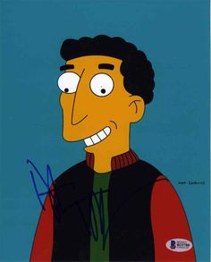 Dustin Hoffman The Simpsons Signed 8x10 Photo Certified Authentic Beckett BAS COA