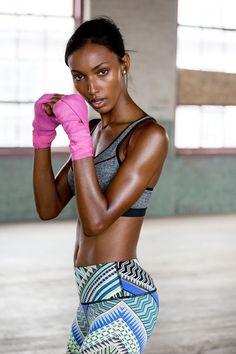 Don't mess with Jasmine ;).   Victoria's Secret Sport Knockout Sport Bra