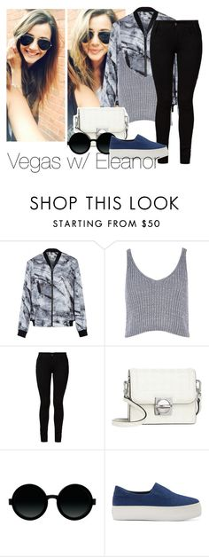 """Vegas w/ El"" by edna-loves-1d ❤ liked on Polyvore featuring Helmut Lang, River Island, Barbara I Gongini, Marc by Marc Jacobs, Moscot and Opening Ceremony"