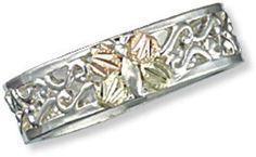 Landstroms Black Hills Gold on Silver Butterfly  Ring #Landstroms #Band