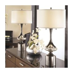 """Signature Design by Ashley Marsha 31.75"""" H Table Lamp with Drum Shade"""