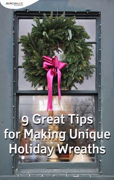 9 Cool Ideas for Holiday Wreaths --use your kids' toys or upcycle broken ornaments | ExploreAsheville.com