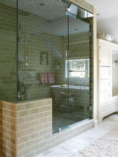 I'm not wild about the tile choices, but I like this concept.  Beautiful Walk-in Shower for Modern Bathroom