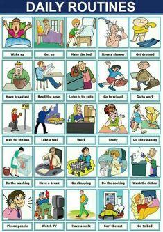 daily routine, #englishvocabulary