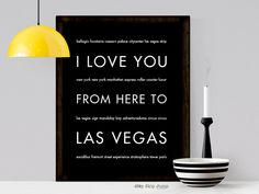 I Love You From Here To LAS VEGAS art print