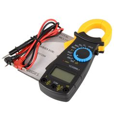 Black AC Digital Clamp DT3266L  LCD Display Digital Multimeter  Digital Clamp Meter Probe Without Battery #Affiliate