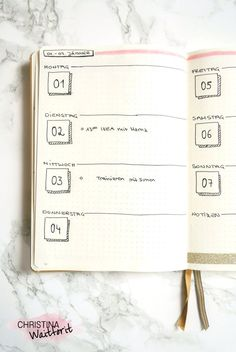 Wochenüberischt – weekly spread – weekly overview Bullet Journal January 2018 – – World Bullet Journal September, Bullet Journal 2018, Bullet Journal Notebook, Bullet Journal School, Bullet Journal Themes, Bullet Journal Layout, Bullet Journal Cover Page, Bullet Journal Inspiration, Art Journal Pages